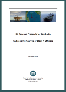 Oil Revenue Prospects for Cambodia An Economic Analysis of Block A Offshore