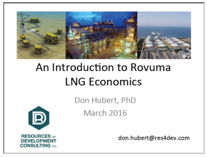 Training Materials: An Introduction to Rovuma LNG Economics