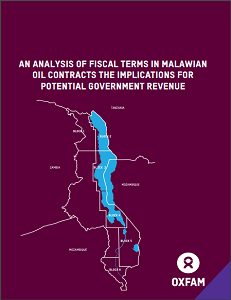 An analysis of fiscal terms in Malawian oil contracts the implications for potential government revenue (Cover Image)